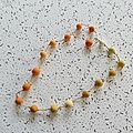 collier dégradé orange 10 €