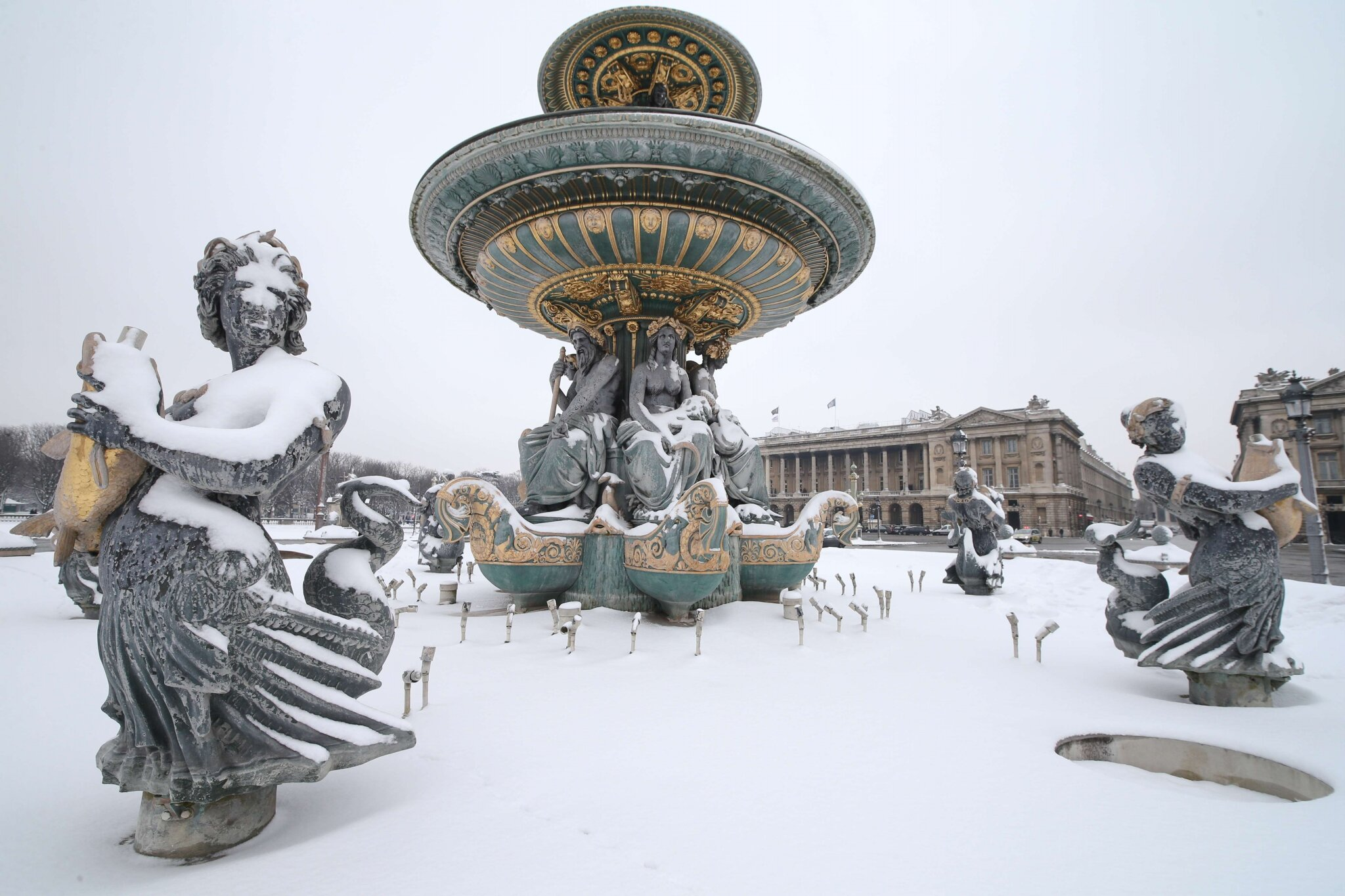 Paris sous la neige. © Photo Michel Stoupak. Sam 19.01.2013, 11:43.