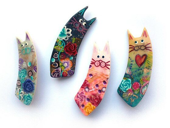 cat brooches_broches chats_07-2014