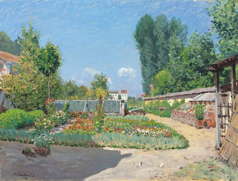 Alfred Sisley (1839-1899), Le potager, oil on canvas, 19 34 x 25 78 in