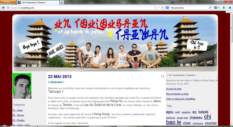 un toulousain à Taiwan