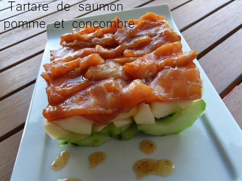 tartare de saumon pomme et concombre