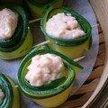 Bouchées de crevettes aux courgettes