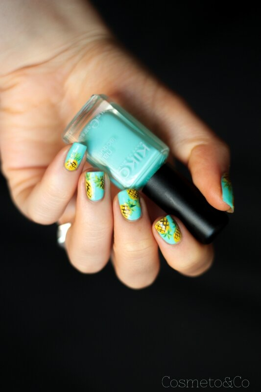 nail art ananas tropical été summer pineapple_-7