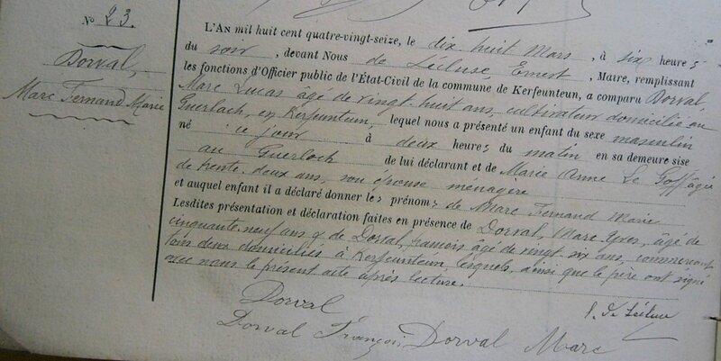 DORVAL MARC FERNAND MARIE N 1896