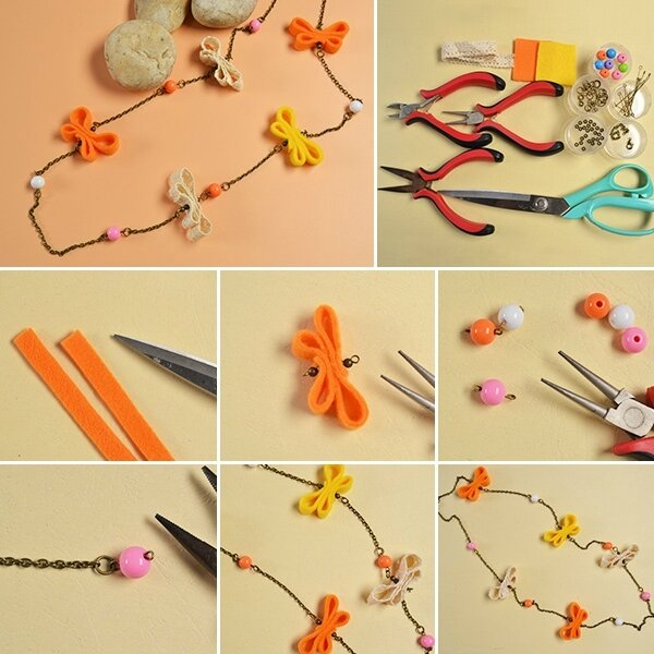 600-Easy-DIY-Project---How-to-Make-a-Handmade-Butterfly-Chain-Necklace-at-Home