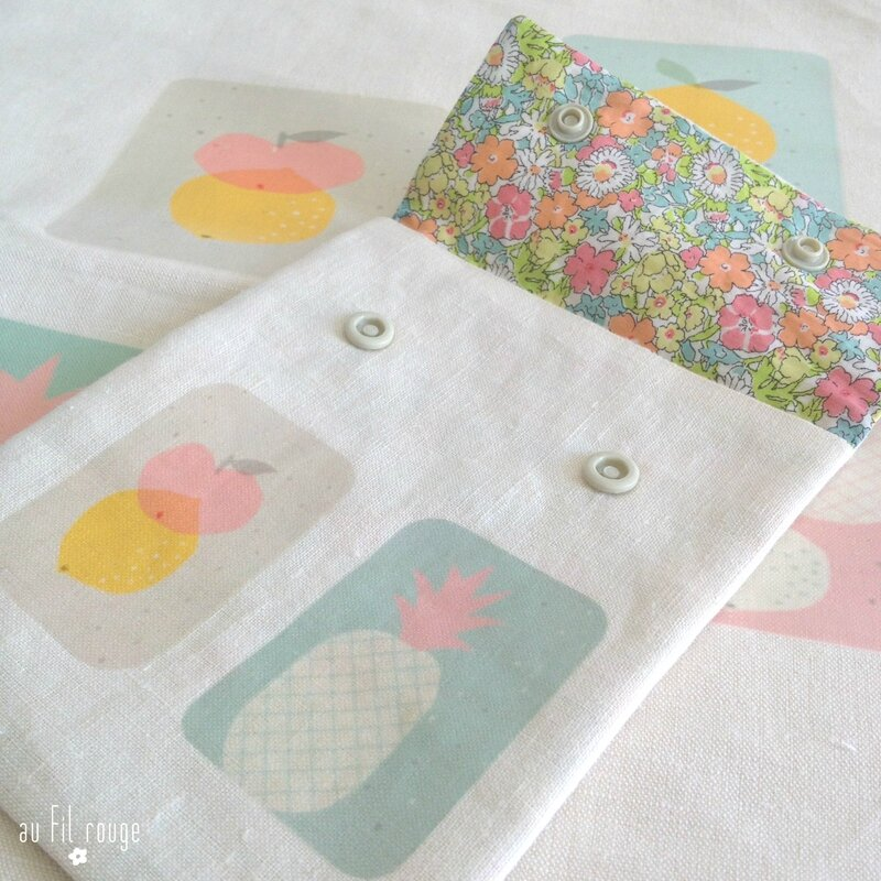 Tote bag Tutti Frutti mint détail 2
