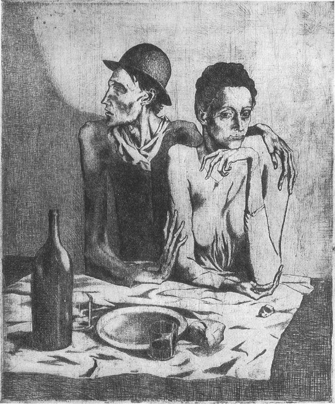 Picasso Le repas frugal