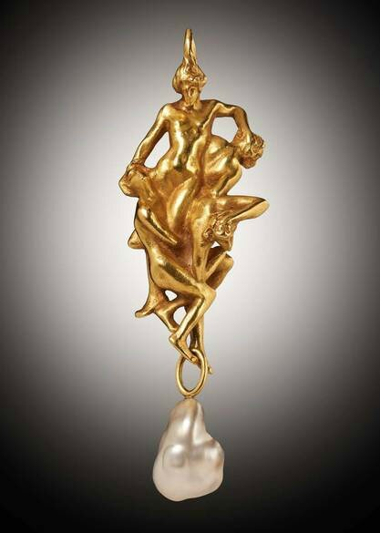 The Fall of the Damned, by René Lalique, 1902, at Wartski