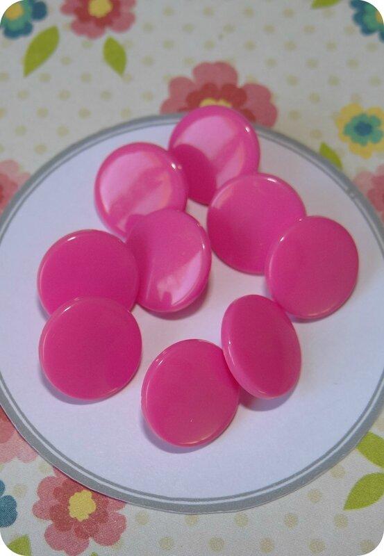 Bouton pression plastique rose