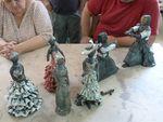 Pièces de chez Elodie CULIS pendant le raku,céramique,raku,sculpture,modelage,élèves ,pièces,terre,argile,grès (8)