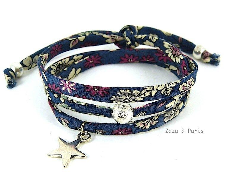 Bracelet Liberty bleu Argent