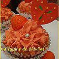 Mes cupcakes citronnés - topping à la fraise tagada