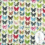 tissu-imprime-papillon-ecru