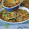 Clafoutis aux Courgettes et au Thon