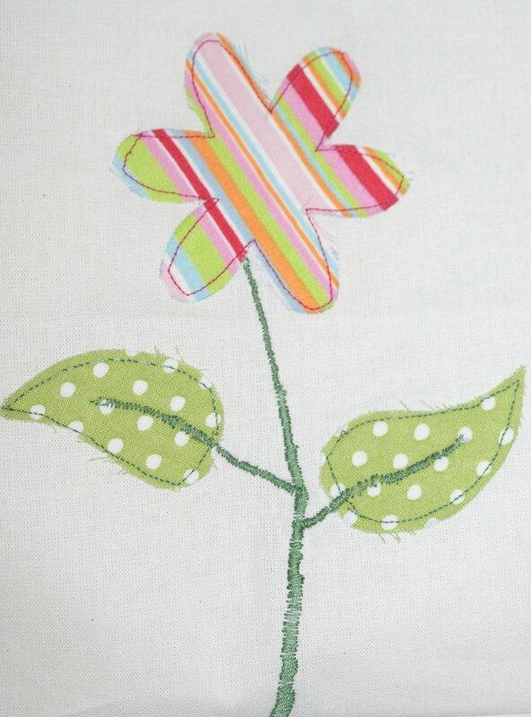 détail fleur colorée verso