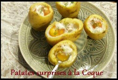 """ღ """" Miam """" Patates Surprises à la Coque"""