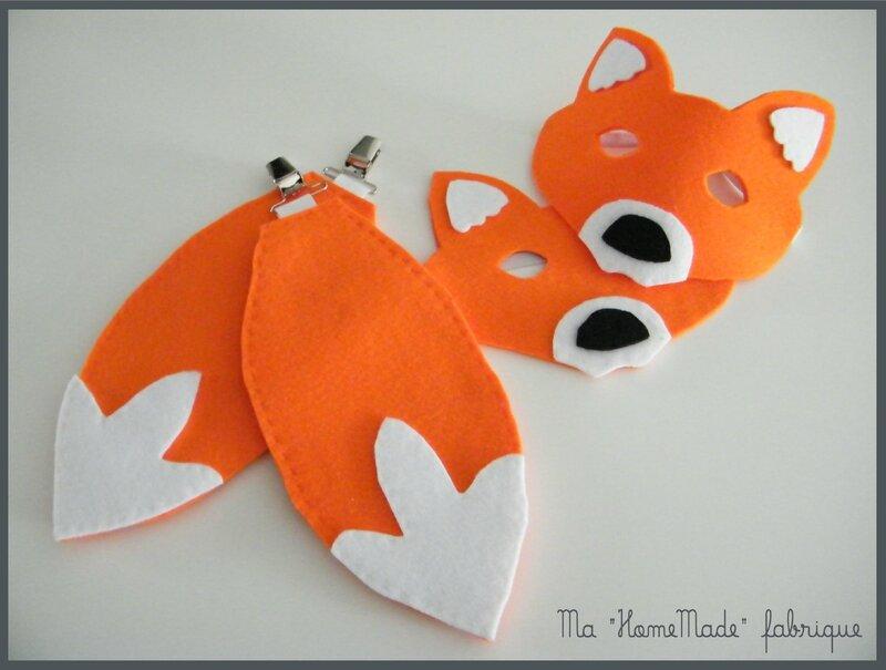 masque et queue de renard, déguisement2