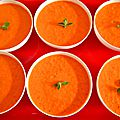 mini panna cotta aux poivrons