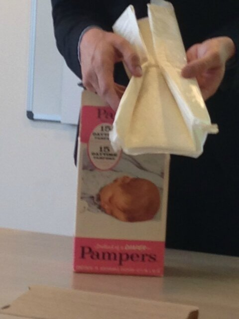 pampers vieille couche