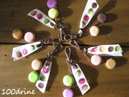Bijoux de sac macarons