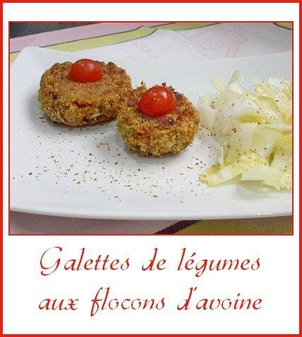 Galettes de légumes aux flocons d'avoine