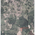 Localisation du terrain sur photo aérienne