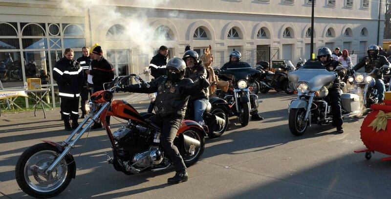 Les bikers ont effectué des baptêmes de moto tout au long de la journée de samedi.