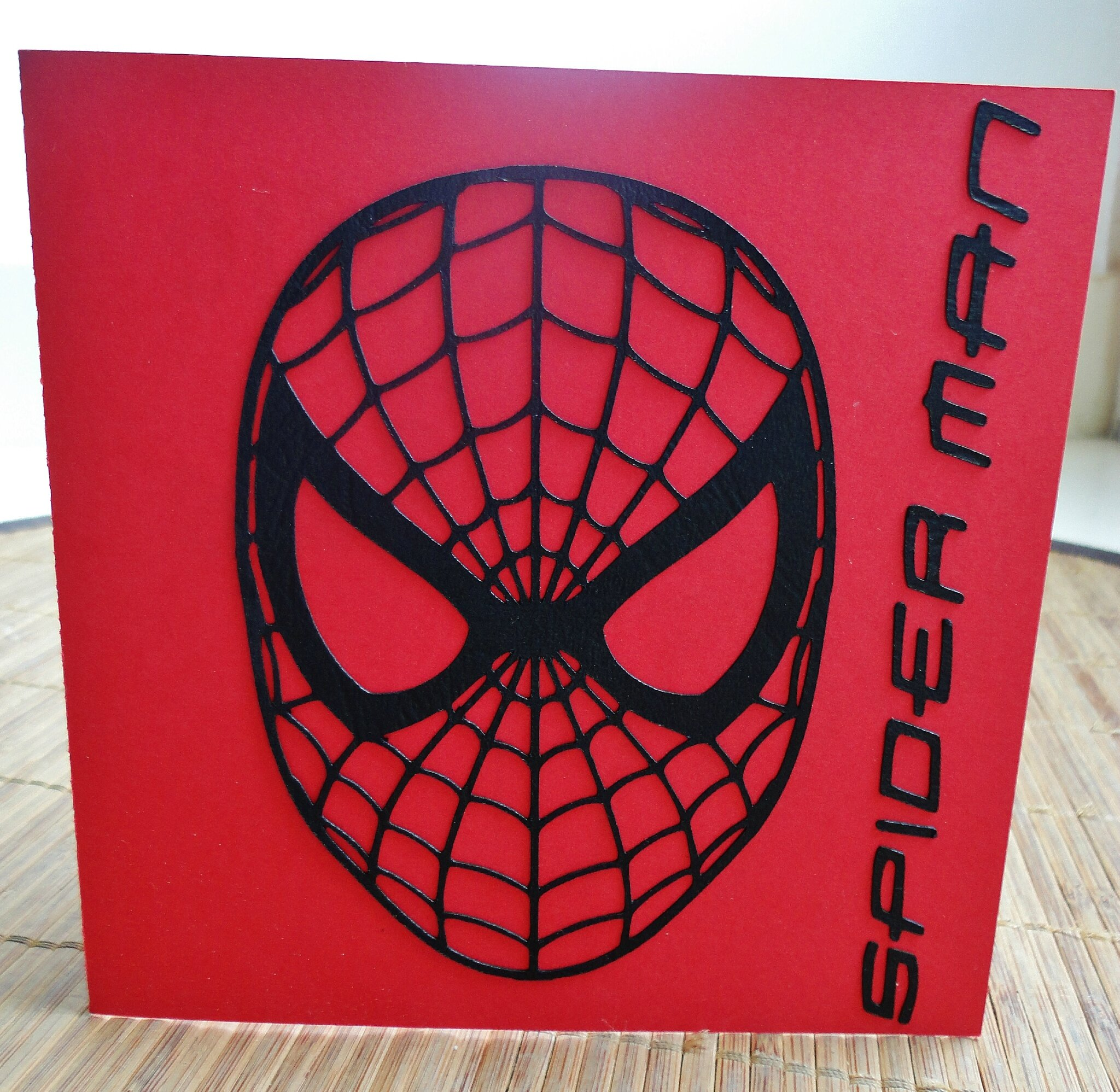 Carte anniversaire spiderman sc cr ations - Deco anniversaire spiderman ...
