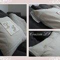 Coussin monogramm
