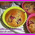 Muffins aux framboises et farine de maïs