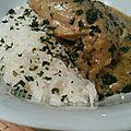 Curry vert de poulet et riz thai