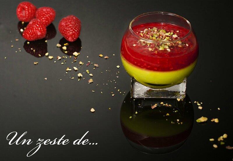 crème pistache framboise