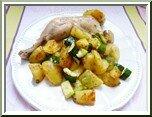 0327- cuisses de poulet, pdt sautées, cuisson crisp