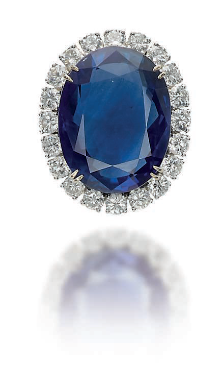A sapphire and diamond ring, by Van Cleef & Arpels