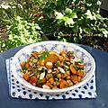 Salade de carottes & pois chiche, chermoula à l'orange et aux épices