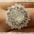 Bague étoile white opal