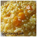 Risotto au potimarron - thermomix - (ou pas)