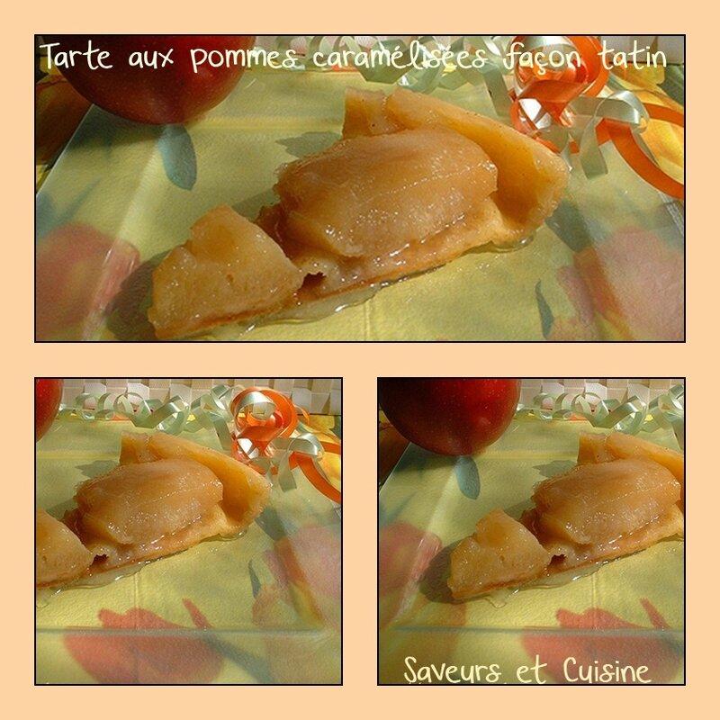 Tarte aux pommes caramélisées cuite façon tatin