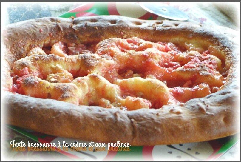 """ღ """" Miam """" Tarte bressanne à la crème et aux pralines"""