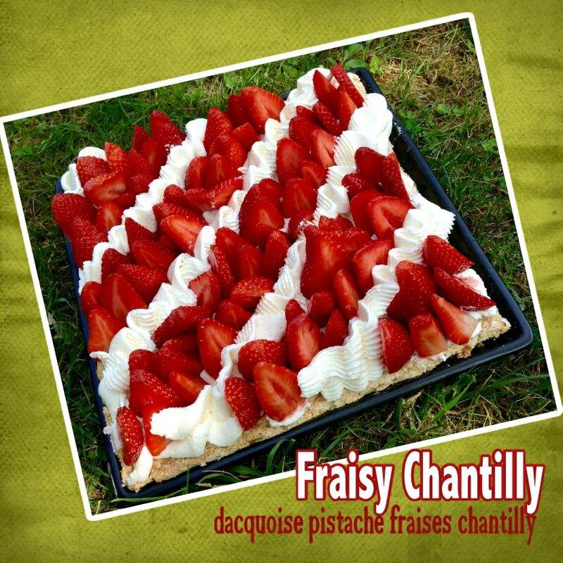 Dacquoise pistache fraises et chantilly (Scrap)