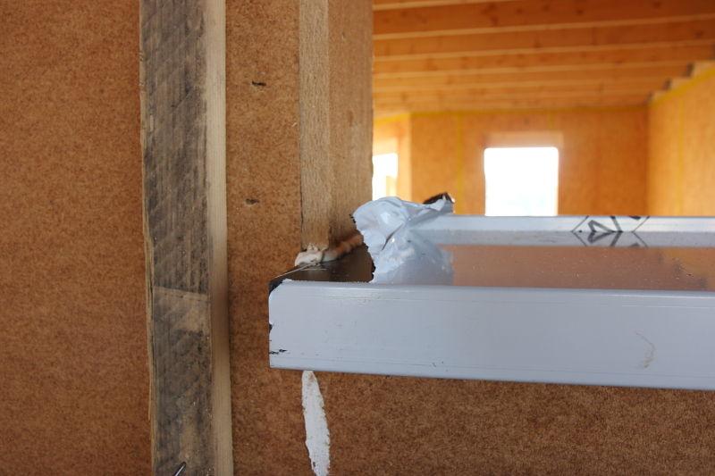 Pose des appuis de fen tres 11 12 2009 notre maison for Pose de fenetre sur ossature bois