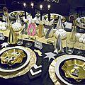 Ma table du nouvel an en noir et or (et des idées pour parfaire la fête)