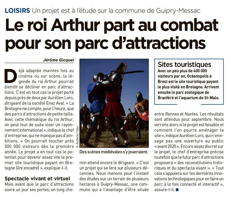 Y aura-t-il un parc d'attractions sur le thème du Roi Arthur et de la Fée Morgane en Ille-et-Vilaine ?