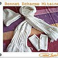 Bonnet Echarpe Mitaines tricot tuto