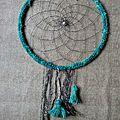 Attrape rêves turquoise - grand modèle #agv00100
