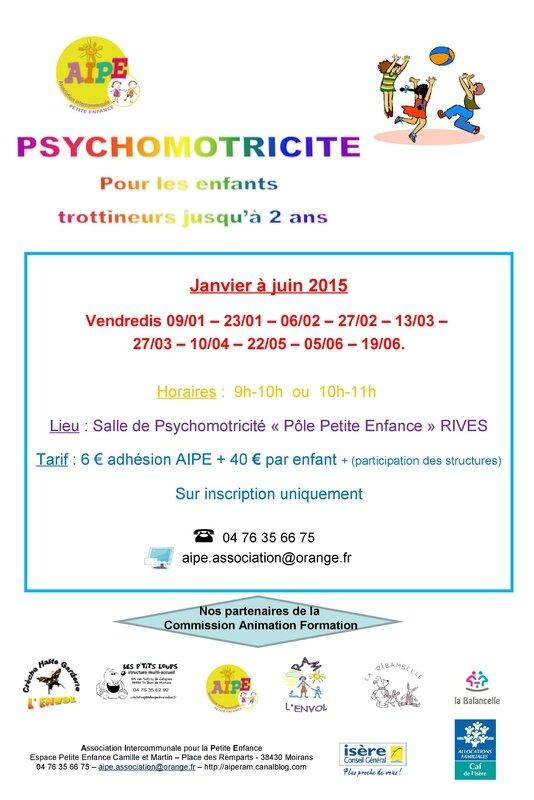 AFFICHE PSYCHOMOTRICITE 2015