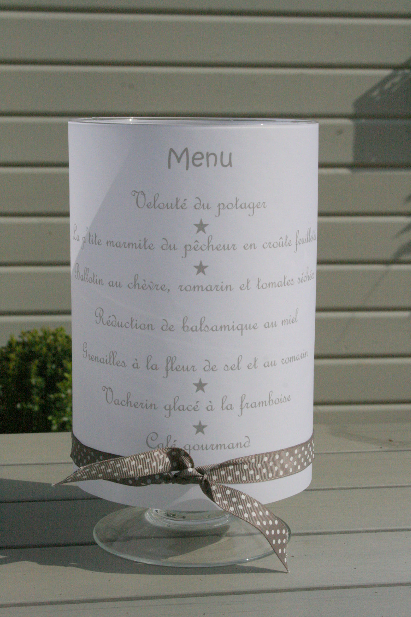 Pr sentation de menu j 39 ai un secret te dire for Idee menu original