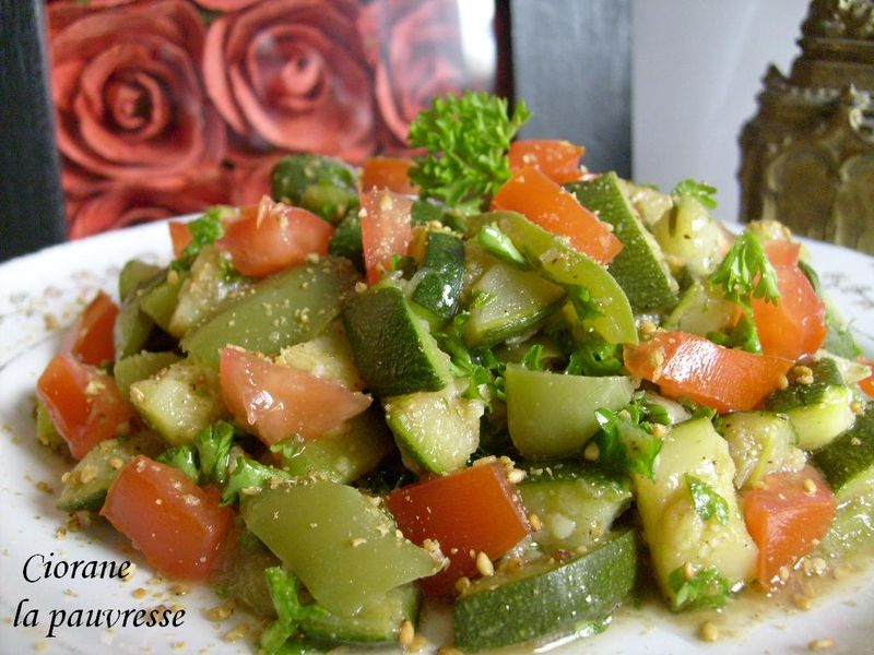 Amazing Salade De Courgettes Cuites #5: Salade Courgette-poivron-tomate