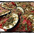 {recette} tarte tomates - aubergine et sa chapelure persillée